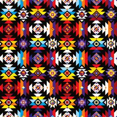Fototapeta aztec pattern black colorful repeatable obraz