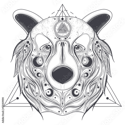 Grizzly Bear Head Outline