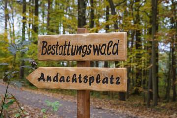 bestattungswald - friedhof