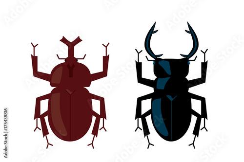 カブトムシとクワガタのイラストベクターデータbeetle Illustration