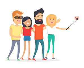 Friendship Day Celebration Isolated Illustration