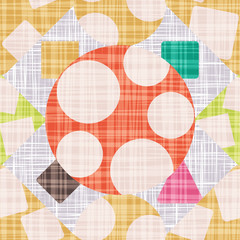 Design textile with geometric shapes