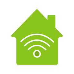 Home internet connection glyph color icon