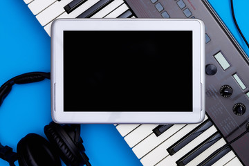 Blank Tablet screen for Music studio application