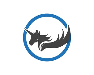 Pegasus Vector Logo Template vector illustration
