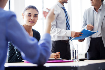 Business people meeting working concept