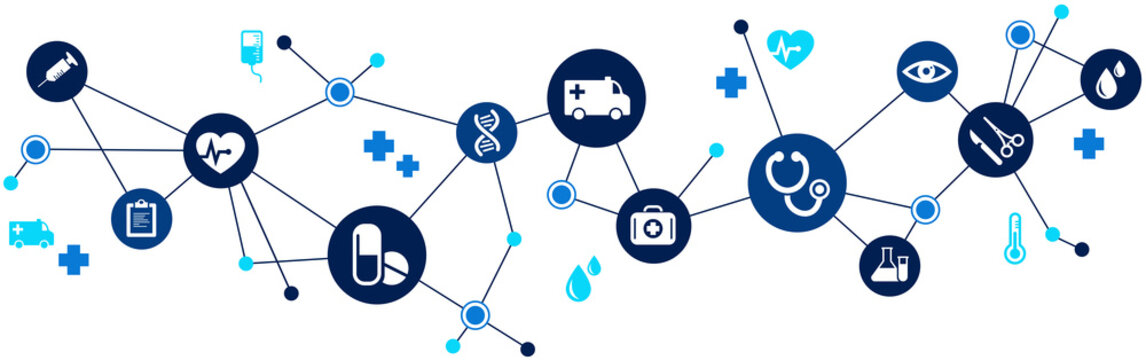 Interconnected healthcare concept