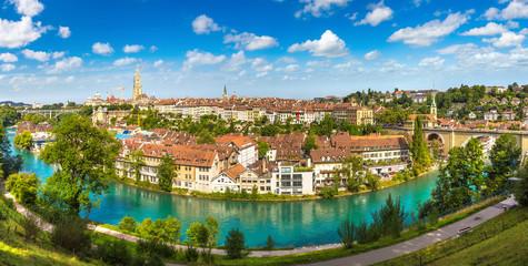 Fototapete - Panoramic view of Bern