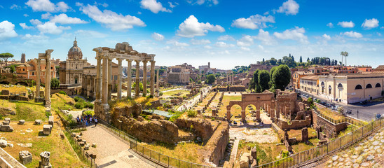 Fototapete - Ancient ruins of Forum in Rome