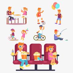 Entertaining Children in Cinema, Riding Bike etc