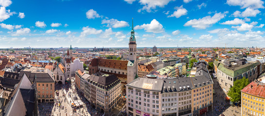 Wall Mural - Panoramic view of Munich, Germany