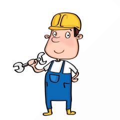 cute cartoon illusration repairman
