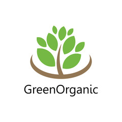green tree organic logo