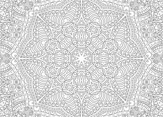 Black and white abstract outline pattern
