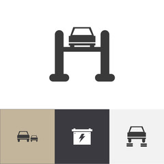 Set Of 4 Editable Car Icons. Includes Symbols Such As Service, Race, Repair And More. Can Be Used For Web, Mobile, UI And Infographic Design.