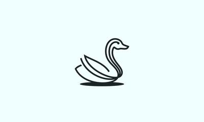 Duck line art minimalist