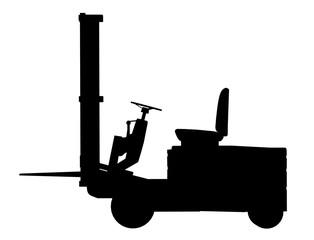 Silhouette eines Gabelstaplers