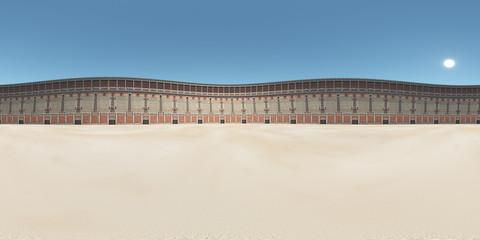 360 Grad Panorama mit dem Kolosseum im antiken Rom