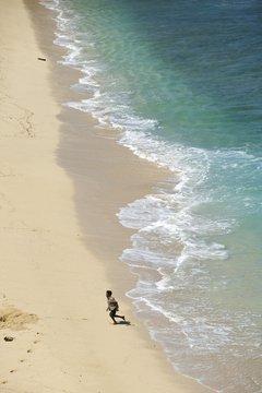 Playa de gis Gris en Mauricio