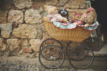 Teddy Bears In Baby Carriage
