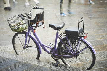 The bike waiting for its cycler in Firenze