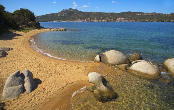 Cala Ginepro beach in Sardinia, Italy