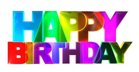 Happy Birthday - Bunte 3d Buchstaben