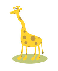 crazy giraffe illustration