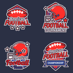 American Football Logo Design Template With Optional Design for Club and Event