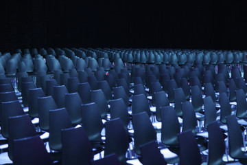 Vacant seats of a theater waiting for spectators