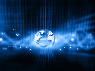 Global technology background. 3d illustration.
