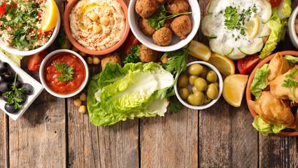 assorted lebanese food