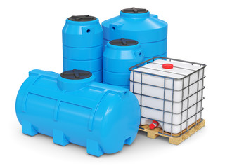 Large plastic tanks for autonomous water supply