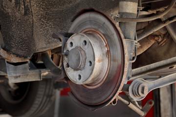 Disk brakes at car