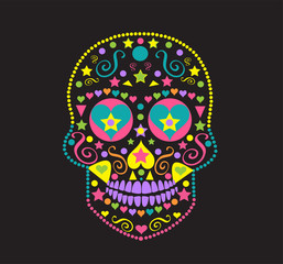Sugar skull icon, Day of the dead