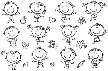 Wall Mural - Happy Doodle Kids