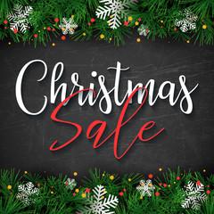 Christmas Sale text design