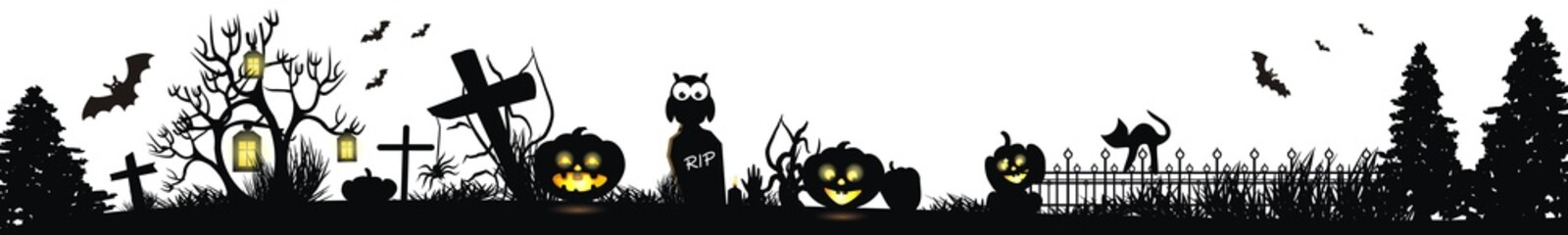 Happy Halloween Hintergrund in schwarz
