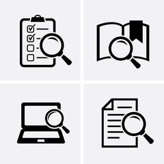 Case Studies Icons set.