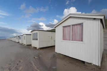 Strandhäuser am Ende der Saison