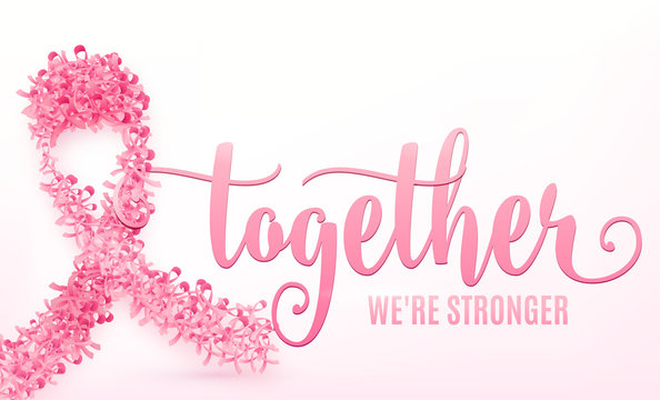 Vector illustration of breast cancer ribbon