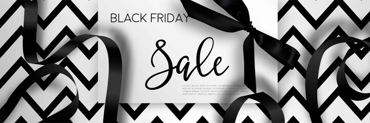 Black Friday sale discount promo offer poster or advertising flyer and coupon.