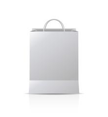 mock-up of gift bag. vector design blank