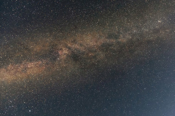Foto op Textielframe Nacht A night sky with stars and a milky way
