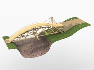 Swing bridge, Leonardo da Vinci; Codex Atlanticus 0855r
