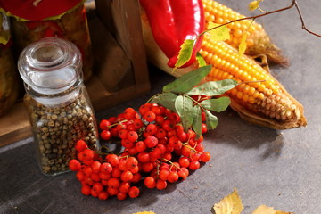 The autumn harvest of vegetables and fruits is best stored in your pantry.
