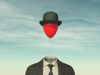 .Man with a red balloon Wall mural