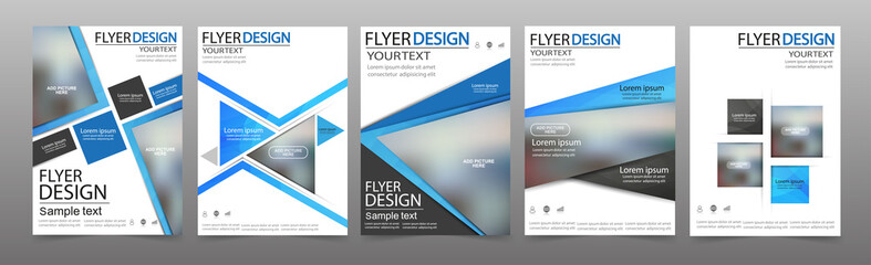 Set of Flyer design. Can be used for magazine cover, business mockup, education, presentation, report. Vector eps 10.