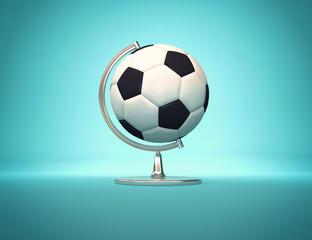 Football world - desk globe