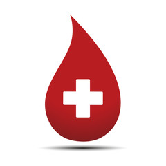 emblem of blood transfusion on white background